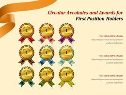 Circular Accolades And Awards For First Position Holders