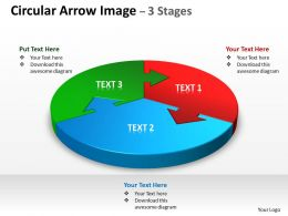 Circular Arrow diagram Image 3 Stages 7