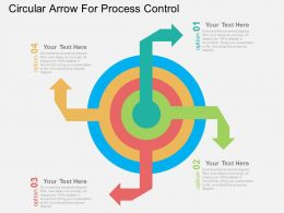 Circular Arrow For Process Control Flat Powerpoint Design