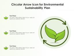 Circular Arrow Icon For Environmental Sustainability Plan