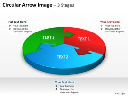 circular arrow image 3 stages powerpoint diagrams presentation slides graphics 0912