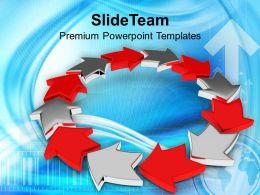 Circular Arrow Process Teamwork PowerPoint Templates PPT Themes And Graphics 0313
