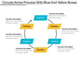 Circular Arrow Process With Blue And Yellow Boxes