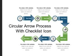 Circular Arrow Process With Checklist Icon