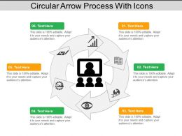 Circular Arrow Process With Icons