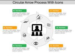 Circular Arrow Process With Icons