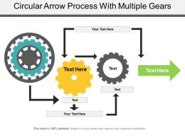 Circular Arrow Process With Multiple Gears