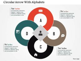 circular_arrow_with_alphabets_flat_powerpoint_design_Slide01
