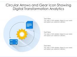 Circular Arrows And Gear Icon Showing Digital Transformation Analytics