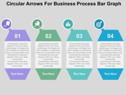 Circular Arrows For Business Process Bar Graph Flat Powerpoint Design