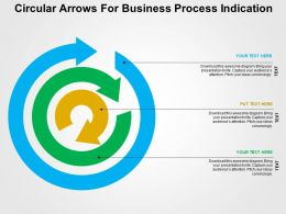 Circular Arrows For Business Process Indication Flat Powerpoint Design