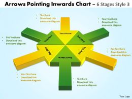 circular arrows pointing inwards chart 3