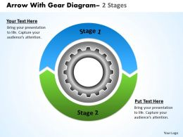 Circular Arrows With Gears 2 Stages 5