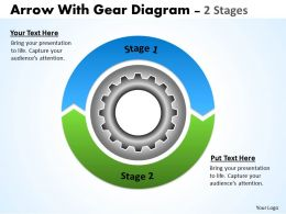 Circular Arrows With Gears 2 Stages