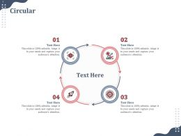 Circular Audiences Attention Product Fundraising Ppt Powerpoint Ideas