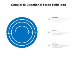 Circular Bi Directional Force Field Icon