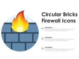 Circular Bricks Firewall Icons