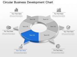 Circular Business Development Chart Powerpoint Template Slide