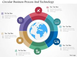 Circular Business Process And Technology Flat Powerpoint Design