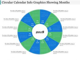 Circular Calendar Info Graphics Showing Months
