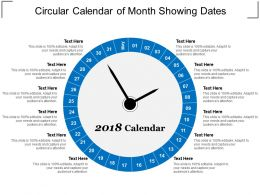 Circular Calendar Of Month Showing Dates