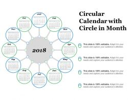 Circular Calendar With Circle In Month