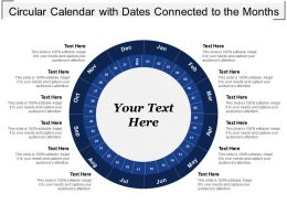 Circular Calendar With Dates Connected To The Months
