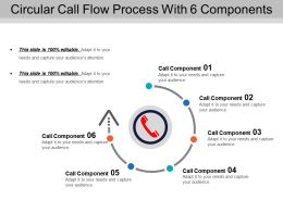 Circular Call Flow Process With 6 Components