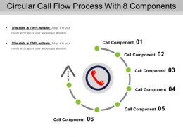 Circular Call Flow Process With 8 Components