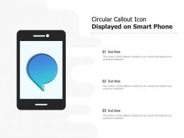 Circular Callout Icon Displayed On Smart Phone