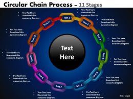 Circular Chain Flowchart Process Diagram 11 Stages 2