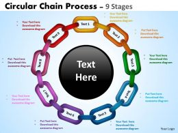 Circular Chain Flowchart Process Diagram 1