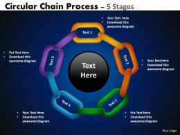 Circular Chain Flowchart Process Diagram 5 Stages 3