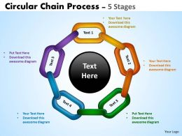 Circular Chain Flowchart Process Diagram 5 Stages