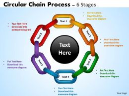 Circular Chain Flowchart Process Diagram 6 Stages