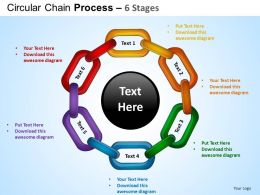 Circular Chain Flowchart Process Diagram 6 Stages ppt Templates 0412
