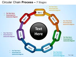 Circular Chain Flowchart Process Diagram 7 Stages ppt Templates 0412