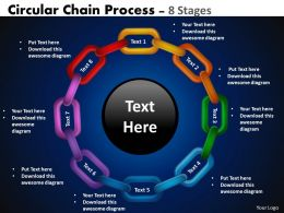 Circular Chain Flowchart Process Diagram 8 Stages 3