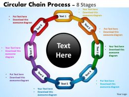 Circular Chain Flowchart Process Diagram 8 Stages