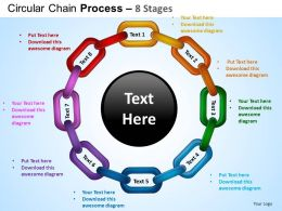 Circular Chain Flowchart Process Diagram 8 Stages ppt Templates 0412