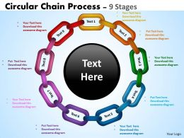 Circular Chain Flowchart Process Diagram 9 Stages