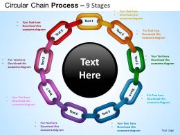 Circular Chain Flowchart Process Diagram 9 Stages ppt Templates 0412