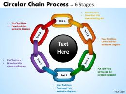 Circular Chain Flowchart Process Diagrams 7