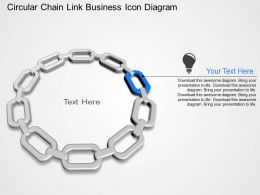 Circular Chain Link Business Icon Diagram Powerpoint Template Slide