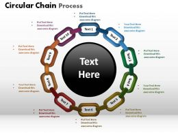 Circular Chain Process Powerpoint Slides