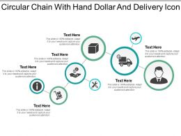 Circular Chain With Hand Dollar And Delivery Icon