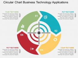 Circular Chart Business Technology Applications Flat Powerpoint Design