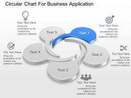 Circular Chart For Business Application Powerpoint Template Slide