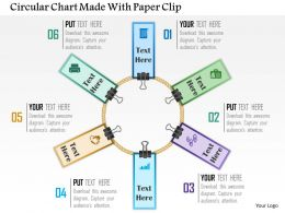 Circular Chart Made With Paper Clip Powerpoint Template