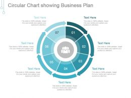 Circular Chart Showing Business Plan Powerpoint Layout